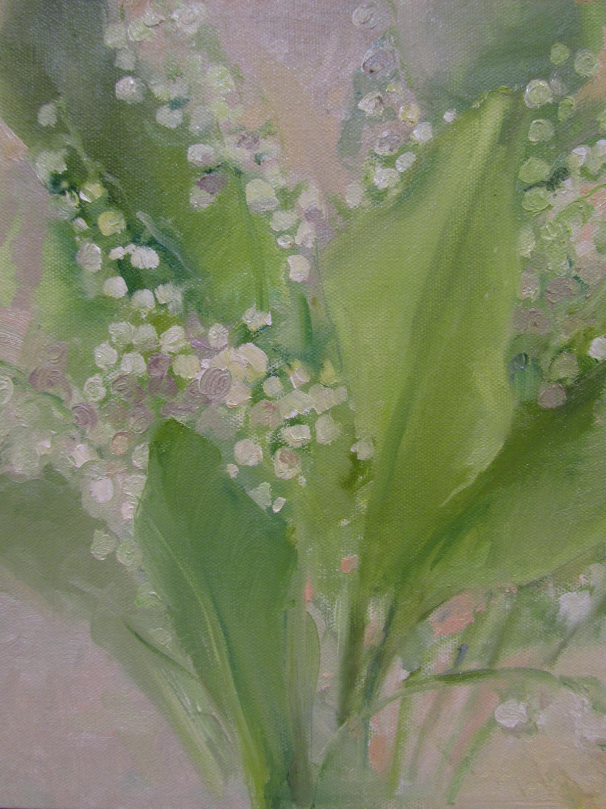 033 'Lily of the Valley' Oil on Canvas