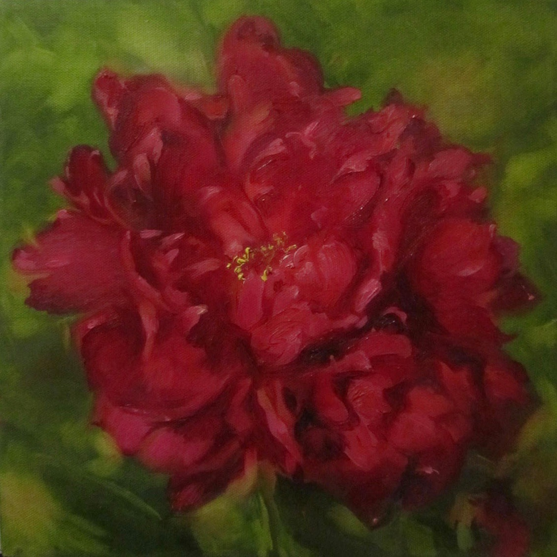 003 'Red Peony' Oil on Canvas